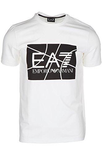 Emporio Armani EA7 t-shirt maglia maniche corte girocollo uomo bianco EU M (UK 38) 6XPT89 PJ20Z 1100