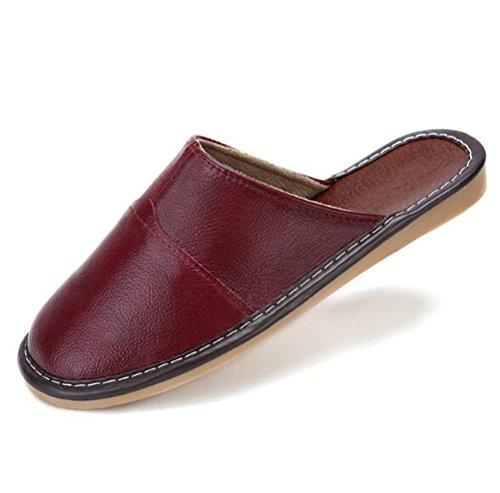Scuro Adulto Pelle In Rosso Nanxson Multicolore Avvio Tx0008 tm Pantofola Unisex Di Wn4SHP