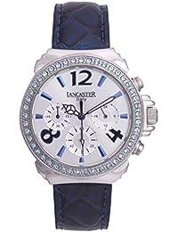 Lancaster 0633LZSSBNCL - Reloj de Señora cuarzo piel Azul