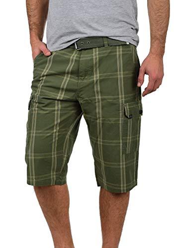 Blend Hannes Herren Cargo Capri Shorts Bermuda Kurze Hose Mit Gürtel Aus 100{bcbfdcc51451ad2fcc377efa50270e2e494cf02ce10c60c929b8b93889445cba} Baumwolle Regular Fit, Größe:XXL, Farbe:Dusty Green (70595)