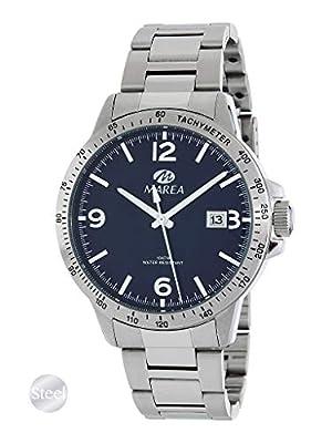 Reloj Acero Marea Analógico Hombre B36148/3 Calendario y Esfera Azul