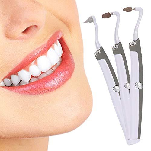 Dental Care Kit (Sonic Zahnreiniger,Tragbare Dental Tool Kit Mundhygiene Care & Tooth Stain Radiergummi & Plaque mit Remover 3 Alternative Polierköpfe und LED-Licht)
