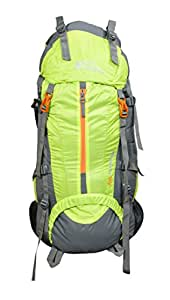 Himalayan Adventures Climate Proof Rucksack 75 Litres, With Rain Cover Parrot Green