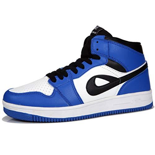 Casual Sneakers Laufschuhe Basketball Schuhe Leder Mode High Tide Schuhe Männermode Große Größe Casual Sports Männer Und Frauen Schuhe,Blue,47