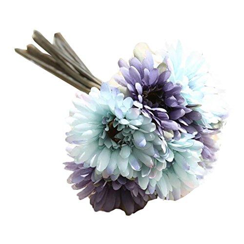 HUHU833 1 Strauß von 7 Künstliche Fake Blumen Gerbera Blumenstrauß Sträuße Fake Blume für Dekoration Wohnaccessoires & Deko (F)