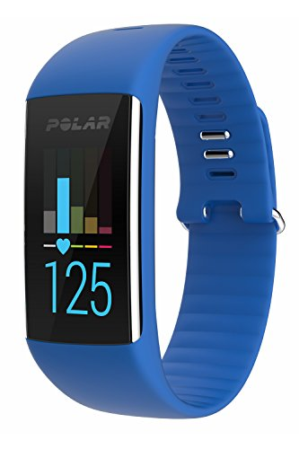 Polar A360 Fitness Tracker with Wrist Heart Rate Monitor – Size M, Blue