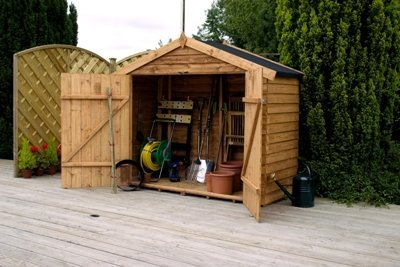 7ft W x 3ft D Wooden Bike Shed Best Price and Cheapest