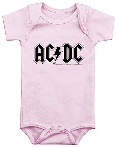 AC/DC Pink Logo Body bimbo/a rosa pallido 68/74