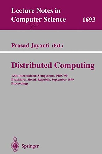 Distributed Computing: 13th International Symposium, Disc