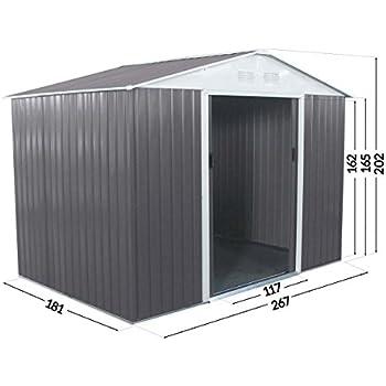 abri de jardin m tal 3 35m cabane de jardin. Black Bedroom Furniture Sets. Home Design Ideas