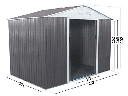 Habitat et Jardin - ABRI Jardin Metal Dallas- 5,29 M²