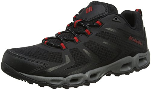 Columbia Ventralia 3 Low, Zapatillas de Senderismo para Hombre, Negro (Black/Mountain Red...