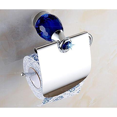 YanCui@ Porta carta igienica Europeo cristallo tovagliolo titolare rustico carta