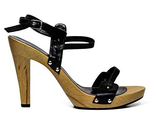 Studio pollini S16410DXL000 sandalo con tacco alto in legno
