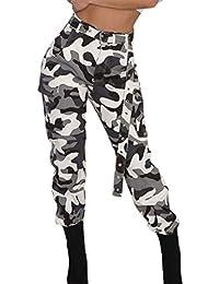 Notdark Damen Cargohosen Camohose Camouflage Frauen Militär Armee Lange  Hosen Hip Hop Tanz Hose(, 56d8196f1f