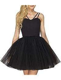 Dragon868 Donna Vestito Elegante Gonna Tulle Donne Slim Fit Sexy Mini Dress  Benda Backless Scollo A V 7a923bf0fc7