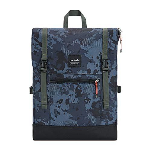 Pacsafe Slingsafe LX450, Anti-Diebstahl Rucksack, Daypack mit Sicherheitstechnologie, 15 Liter, Grau Camo/Grey Camo