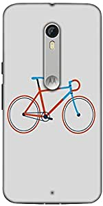 Snoogg Minimal Cycle Ride Designer Protective Back Case Cover For Motorola Moto X Style