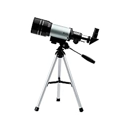 DQQ Telescope for Kids Sky Monocular Telescopes for Astronomy Beginners with Tripod Black 70mm,3X Barlow lens