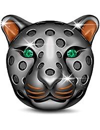 GNOCE - Abalorio de plata de ley 925 con diseño de animales para pulseras y collares europeos de EE. UU.