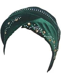 SXON Perlé Turban Bonnet Couvre Tête Coiffure Musulman Indien Islamique  Femme Pour Chimio Cancer f9eeeba3f7f
