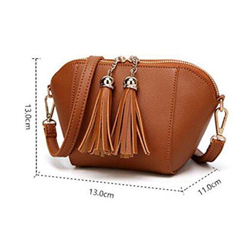 Messenger Bag Nappa Borsa A Tracolla Per Il Tempo Libero Di Colore Solido Di Modo,Green Gray