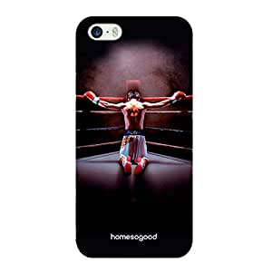 HomeSoGood Boxing Champ Black 3D Mobile Case For iPhone 5 / 5S (Back Cover)