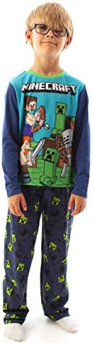 Vanilla Underground Minecraft Steve e del Creeper Long Sleeve Boy Blue Pajama Set Bambini Sleepwear