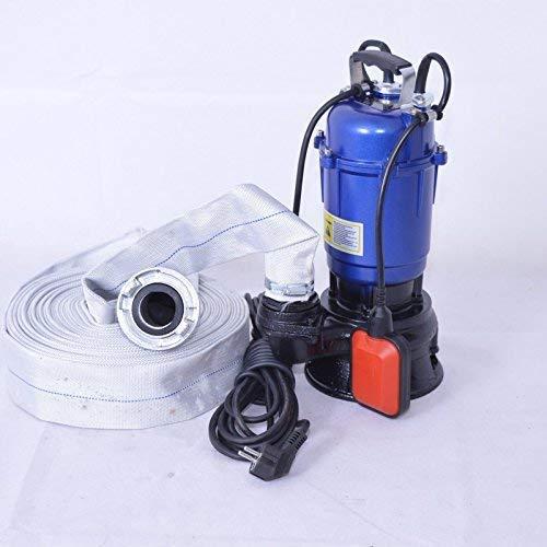 """DAMBAT !! Profi !! Fäkalienpumpe Tauchpumpe Schmutzwasserpumpe 550 Watt Typ MAGNUM2900 + 20m 2"""" C-Schlauch mit Einem freiem Durchlauf für Reststoffe bis 30 mm. Fördermenge 18000l/h = 300 l/min."""