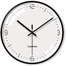 DULPLAY Silencioso Reloj de Pared Radiocontrolado, Puntual Redonda Metálico 100% Relojes Moderno Decoración para