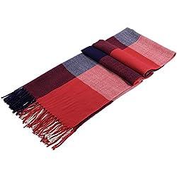 Bufanda De Otoño De Invierno Para Las Niñas Bufandas Calientes De Las Bufandas De Las Señoras De Las Señoras De Las Bufandas, Rojo & Cian