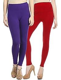 Sakhi Sang Legging Pack of 2 : Purple & Red