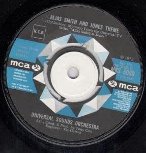 "ALIAS SMITH AND JONES THEME 7 INCH (7"" VINYL 45) UK MCA 1972"
