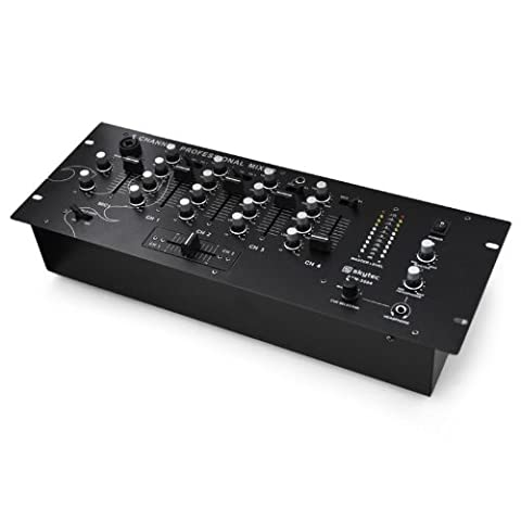 4-Kanal-DJ-Mixer Skytec STM3004 Vorhör-Funktion Rack