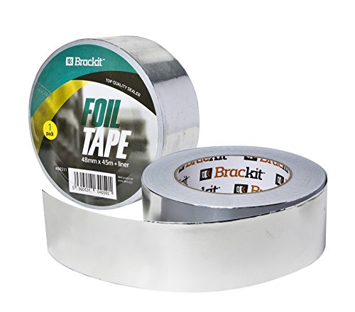 toolkit 48mm x 45m aluminum foil tape conductive high temp foiled tape rolls for hvac repair ducts insulation dryers jewelry making