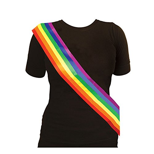 Rainbow Fabric Sash (Gay Pride Kostüme)