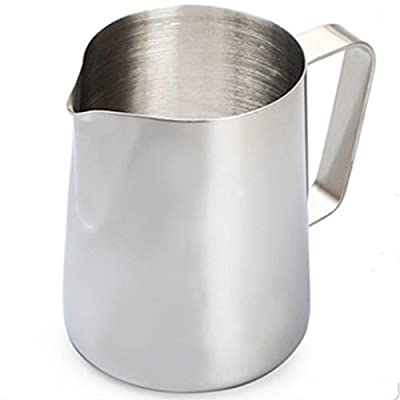 Stainless Steel Milk Frothing By LinTimes 350ml Professional Japanese Style for Barista Cappuccino Espresso Coffee by LinTimes