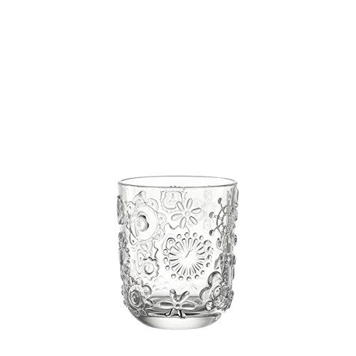 Leonardo 014782 Set 6 Glas Becher klein Fiorita, klar
