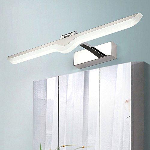 Lampada da parete led semplice e moderno specchio luminoso specchio bagno luce anti-nebbia impermeabile specchio specchio bagno specchio,natural,9w/42cm