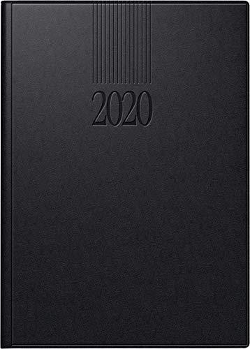 rido/idé 702890390 Buchkalender ROMA 1 (1 Seite = 1 Tag, 142 x 200 mm, Balacron-Einband, Kalendarium 2020) schwarz