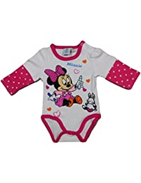Minnie Mouse Body Langarm | 3 Farben, Größen 50-86 | Disney, Minnie Mouse, Body, Langarm
