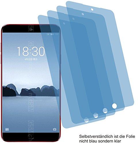 4ProTec 4X Crystal Clear klar Schutzfolie für Meizu 15 Bildschirmschutzfolie Displayschutzfolie Schutzhülle Bildschirmschutz Bildschirmfolie Folie