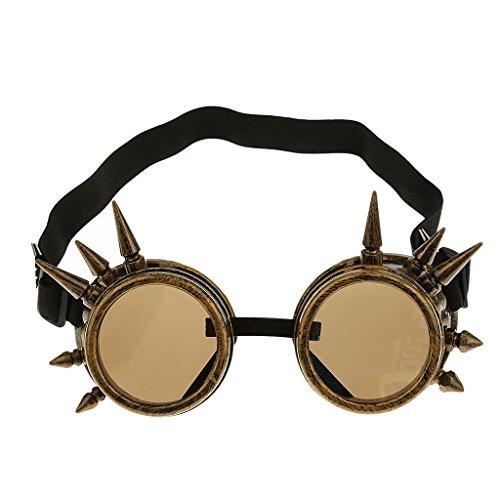 Vintage Gothic Steampunk Brillen Cosplay Foto Requisiten Fancy Kleid Kostüm Sonnenbrille