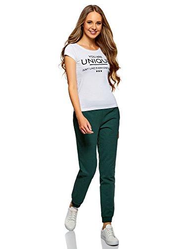 oodji Ultra Donna Pantaloni in Maglia (Pacco di 2) Multicolore (19N9N)