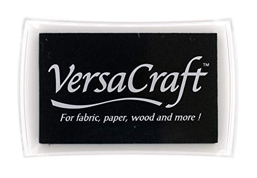 Tsukineko VersaCraft Stempelkissen VK-182 Schwarz (Real Black), Synthetic Material, 9.7 x 6.2 x 2 cm