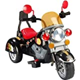 NEW DESIGNED MINI HARLEY STYLE KIDS RIDE ON RECHARGEABLE DELUXE BLACK SUPER MOTORBIKE WITH MP3 INPUT.