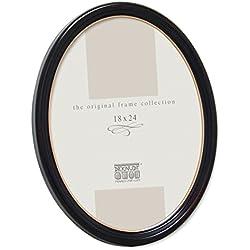 Deknudt Frames S100F9 Cadre Photo Ovale Résine Noir Classique 13 x 18 cm