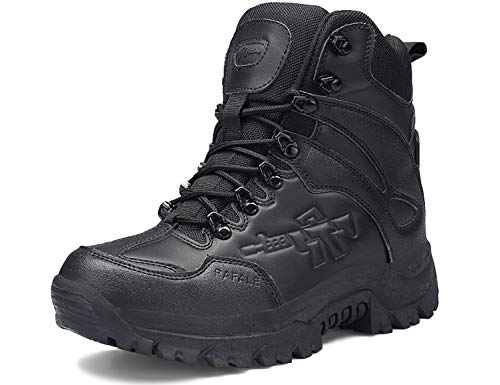 SINOES Stiefel Herren Wanderschuhe Damen Trekkingschuhe Armee Combat Tactical Boots Verschleißfest rutschfeste Outdoor Einsatzstiefel Für Maenner Frauen Outdoor Damen Stiefel
