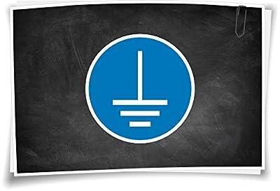 Gebotszeichen M005 vor Benutzung erden Aufkleber Piktogramm Gebotsschild