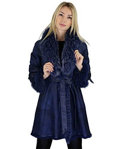 COCO BLACK LABEL since1986 Fellmantel Tamara, Size:46, Colour:iris Blue -